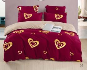 Евро комплект постельного белья «EVBOR005» в подарочной коробке
