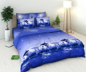 «Океан» Семейный комплект постельного белья