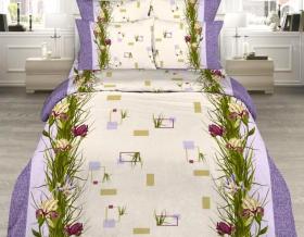 «Ирисы» 2-х спальный комплект постельного белья
