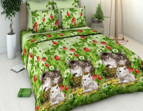 «Котята» Семейный комплект постельного белья