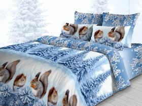 «Белочки» Семейный комплект постельного белья