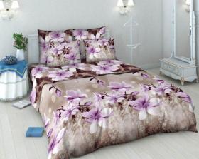 «Магнолия» 1.5 спальный комплект постельного белья