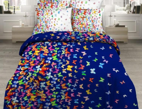 «Вихрь бабочек» Евро комплект постельного белья